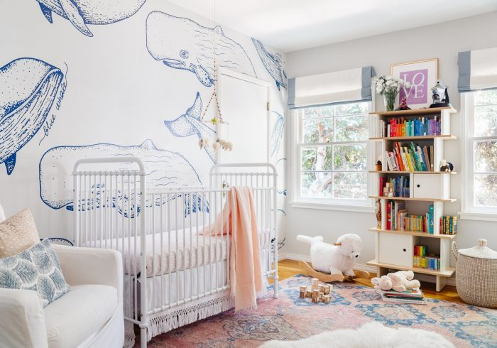 See How Katie's Whale Themed Nursery Gets a Feminine Glow Up For Baby #2