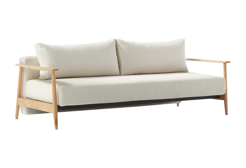 CB2 Una Ivory Boucle Sleeper Sofa