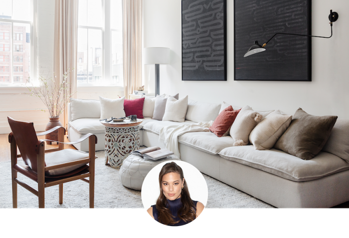 How Supermodel Ashley Graham Furnished Her Cozy Brooklyn Apartment