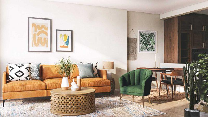 Green Velvet Curved Chair