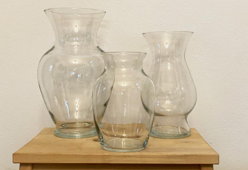 glass vases for diy artisan pottery