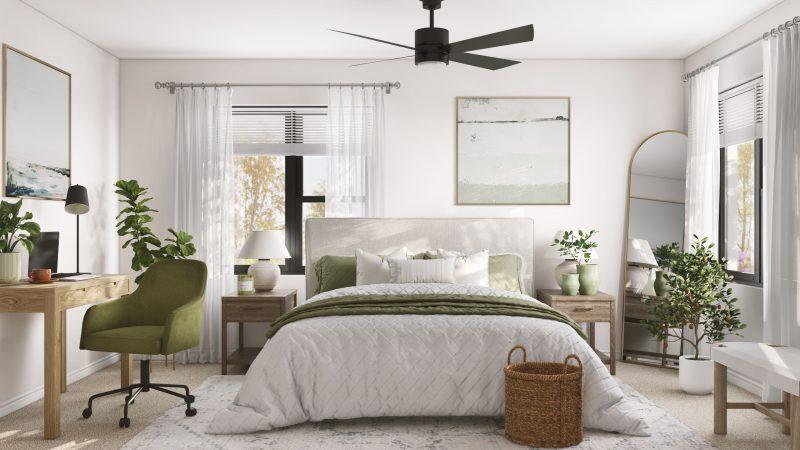sage earth tone bedroom