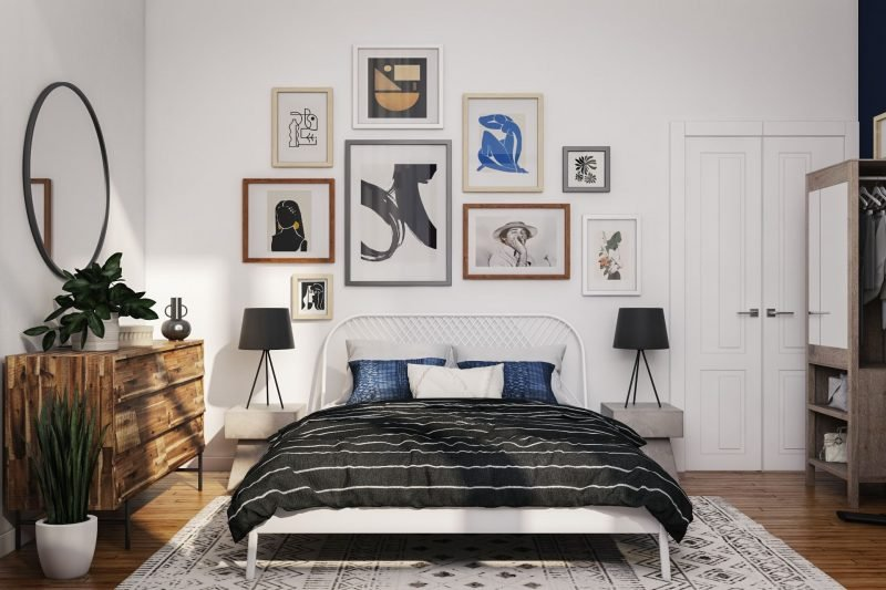 art accent wall bedroom