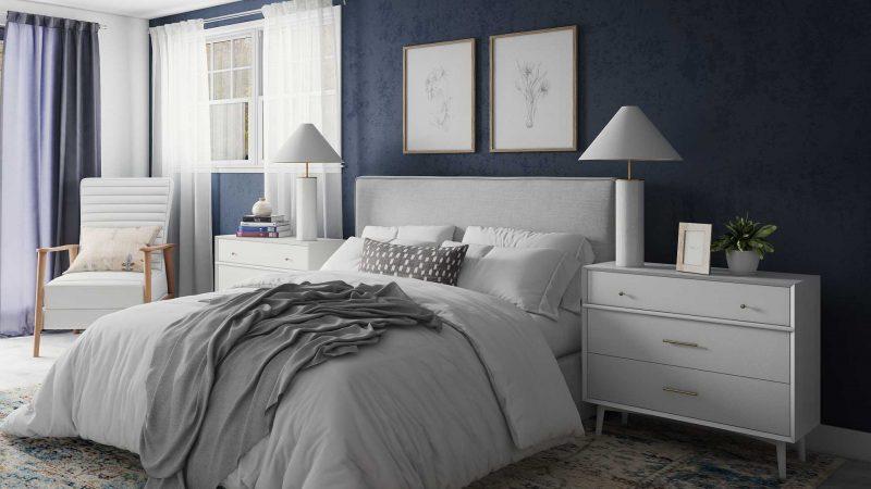 navy bedroom paint color