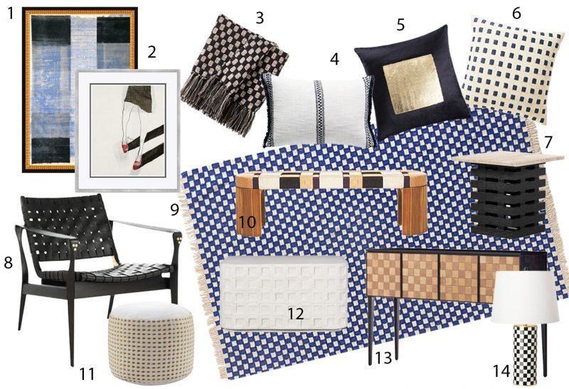 checkerboard decor