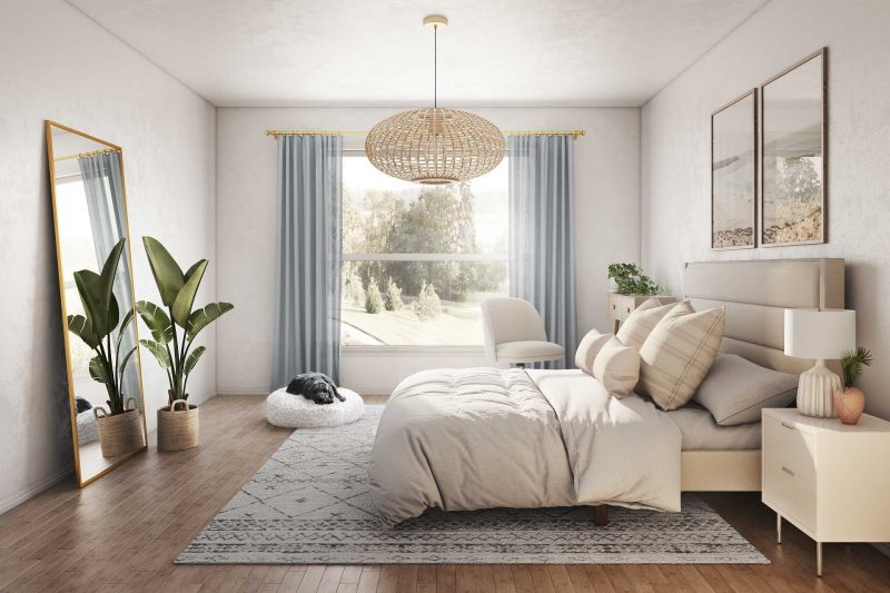 warm white bedroom paint color