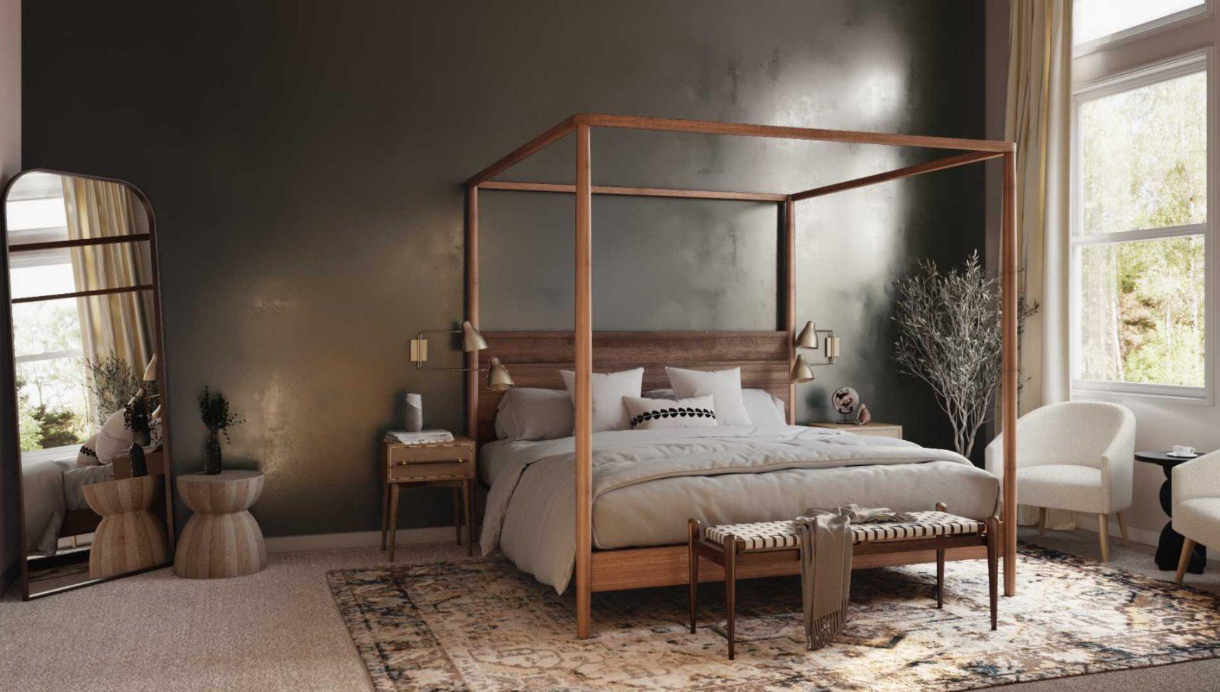 dark bedroom paint color