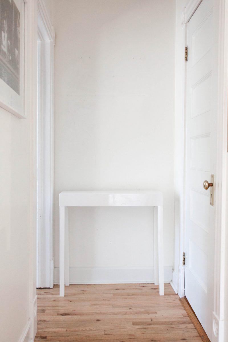 narrow hallway console