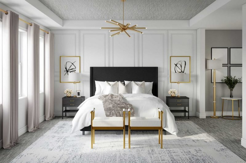 panel accent wall bedroom