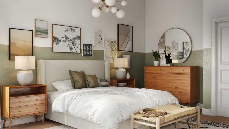 green bedroom paint color