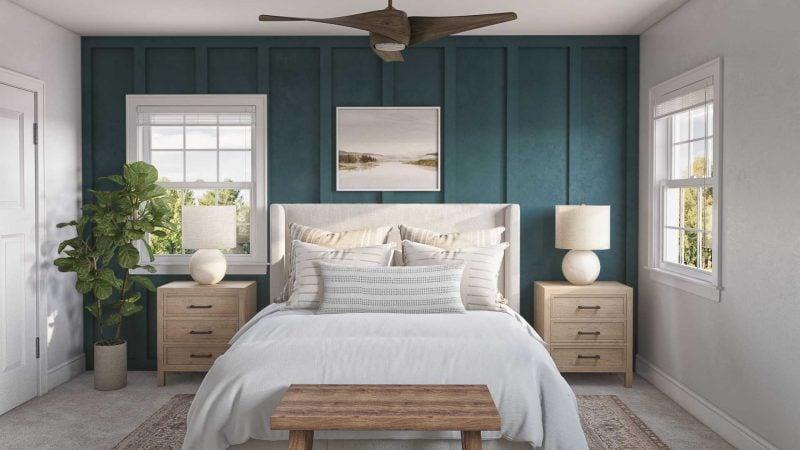 paneled bedroom