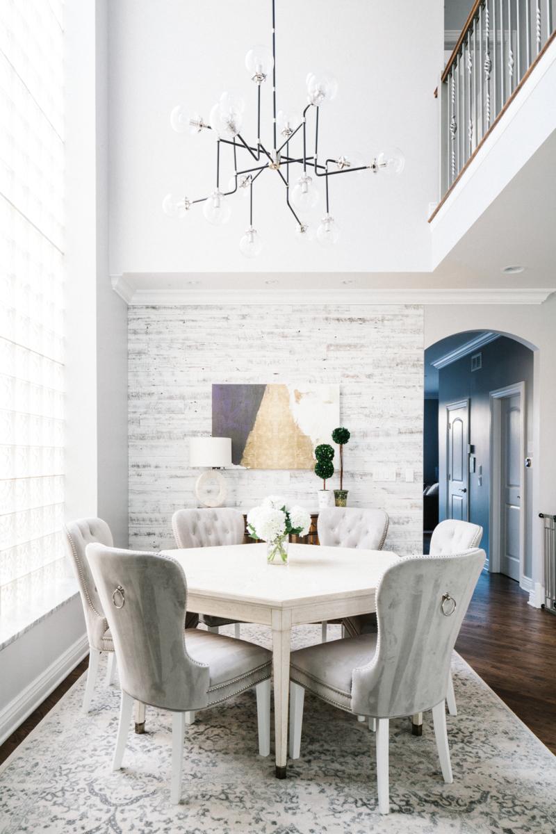dining room textured walls