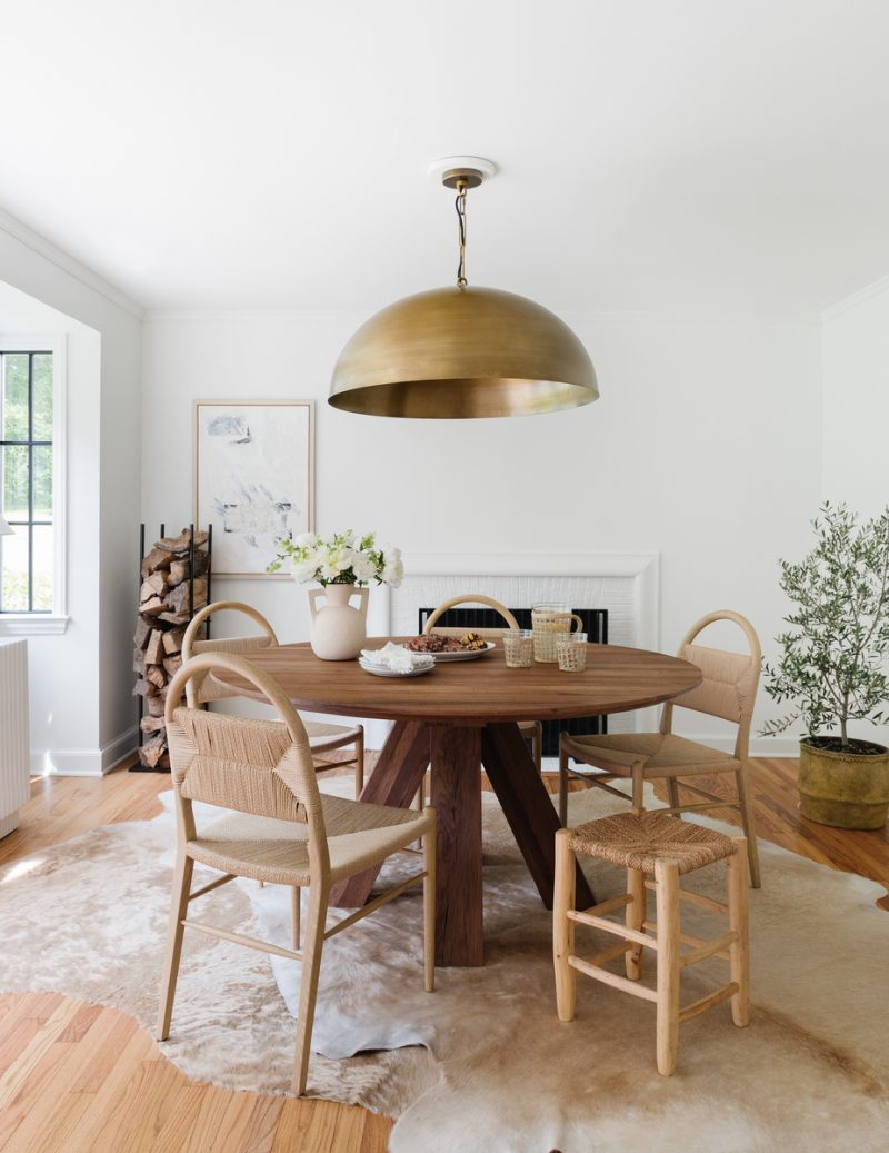 dining room asymmetrical artwork