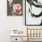 dream office makeover - desk accessories and artwork